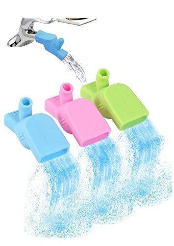 doublevillages-3pcs-fregadero-extensor-grifo-de-agua-rosa-azul-verde