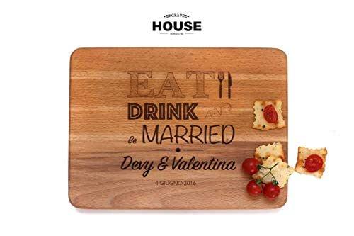 Tagliere in legno regalo personalizzato per matrimonio