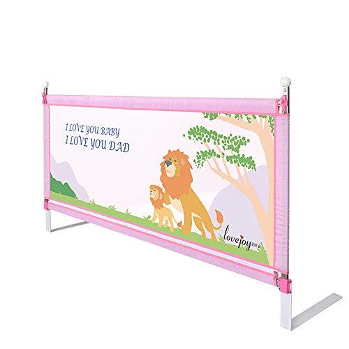 Xyanzi-Barrieres de lit Garde-Corps pour Lit De Bébé Clôture De Lit pour Bébé Déflecteur De Chevet Incassable, Levage Vertical, Matelas Épais Disponible (3 Couleurs) (Couleur : Pink-2m)