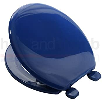 royal blue toilet seat. Carrara Matta ATLANTIC BS2 MARINE BLUE Coloured Plastic Toilet Seat and  Cover with Adjustable Hinges mrbaumbach co 100 Dark Blue Images Home Living