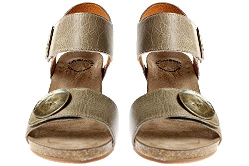Ca Shott 8026 - Damen Schuhe Sandale Keilsandalette Hellgrau