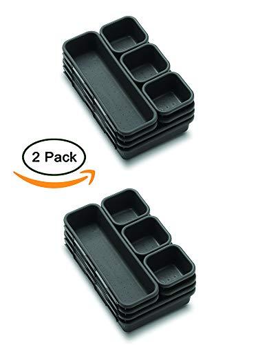 Organizer-riordina cassetti-organizzatore componibile 16 vani per ufficio, cucina, bagno e armadio-portacancelleria (2set)