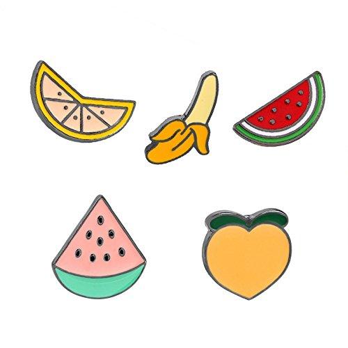 Brosche Mode Niedlich Obst Jacke Shirt Brosche Schmuck Geschenk Tägliche Accessoires (Erdbeer Obst Kostüme)