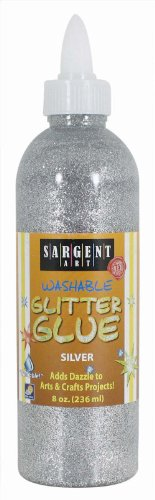 Sargent Art 22-1982230ml Glitter Glue, Silber
