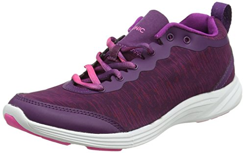 Vionic With Orthaheel Technology Womens Fyn Lace Up Sneaker Violet (Violet)