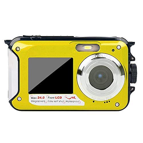 Newgreenca Double Screen Unterwasserkamera Wasserdichte Sport Tauchen Digital-Videokamera
