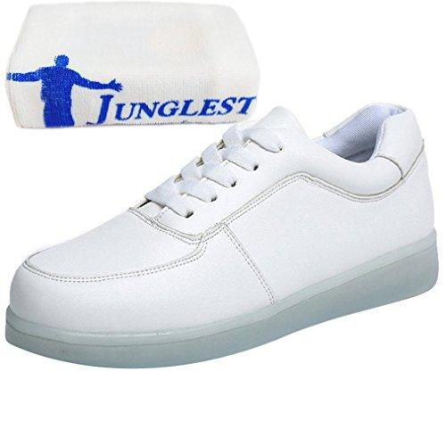 (Present:kleines Handtuch)JUNGLEST® Leuchtende LED Schuhe Sneaker Weiß