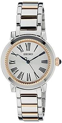 Seiko SRZ448P1 - Reloj de pulsera Mujer, Chapado en acero inoxidable, color Plata