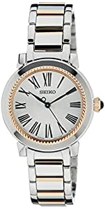 Seiko Women's Quartz Watch with Black Dial Analogue Display Quartz Stainless Steel Coated SRZ448P1