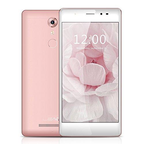 LEAGOO T1 Smartphone 4G LTE 5'' Android 6.0 (MTK 6737 Quad Core 1.3GHz 2G + 16G, 2.5D Screen, Dual Camera 8MP + 13 MP, Ultra-Sottile 7,5mm Corpo in Metallo, 0.19s Impronte Sblocco)