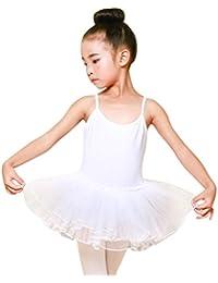 dc39a2c480df6 ADESHOP Tutu Ballet Robe Fille Enfant Col Rond Costume Danse Justaucorps  Fille Jupe À La Mode