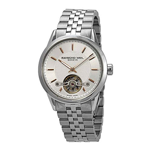 Montre Automatique Raymond Weil Freelancer, 42mm, Argent, 10 ATM, 2780-ST5-65001