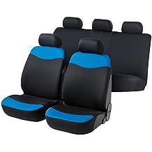 RMG R24a Asientos COMPATIBLES fundas coche negros grises para asientos con airbag reposabrazos y asientos sdoppiabili