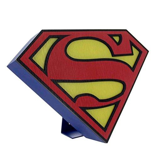 DC Comics Retro Style Superman Logo Light - stehend oder Wandmontage (Stehend Taschenlampe)