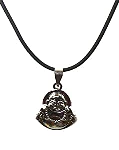 Modish Look Laughing BUddha Fengshui Locket With Chain