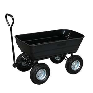 turfmaster chariot de jardin 4 roues cuve basculante 250 kg tc 250 bricolage. Black Bedroom Furniture Sets. Home Design Ideas