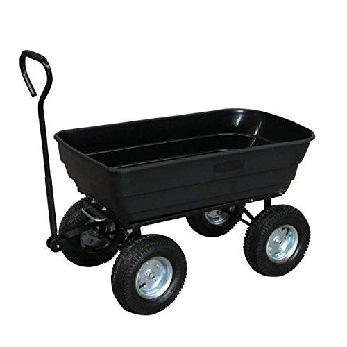 Turfmaster - Chariot de jardin 4 roues - Cuve Basculante - 250 kg - TC-250