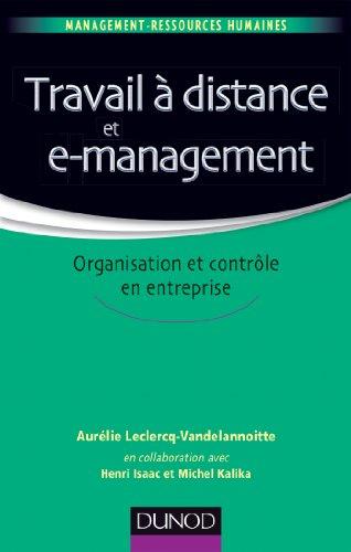 Travail à distance et e-management: Organisation ...