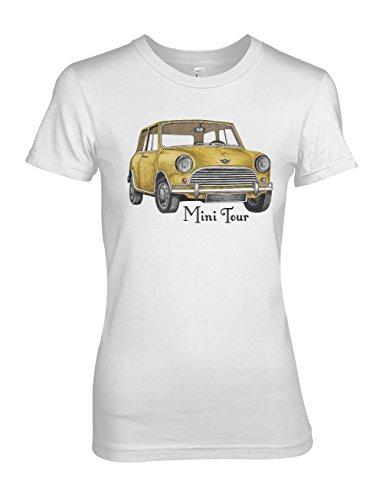 Mini Tour Vintage Car Damen T-Shirt Weiß
