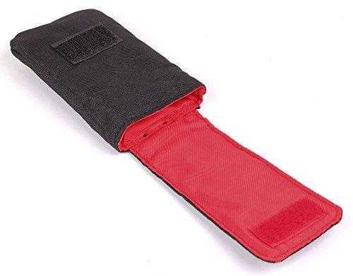 Robuste Schutzhülle Case Tasche mit Klettverschluss & Gürtelschlaufe SCHWARZ. Für Emporia Comfort V66 | Euphoria V50 | Flip Basic F220 | Glam V34 | Select V99 & Doro PhoneEasy 609 L Seniorenhandy