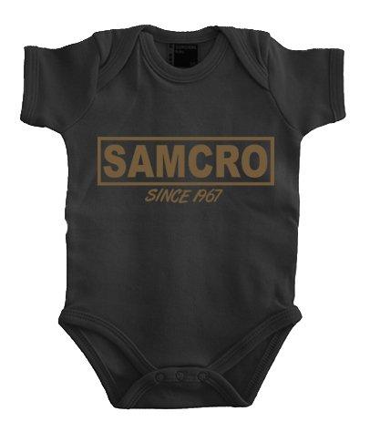 Touchlines Baby Baby Body Samcro, Black/Gold, 80, B200713BB Preisvergleich