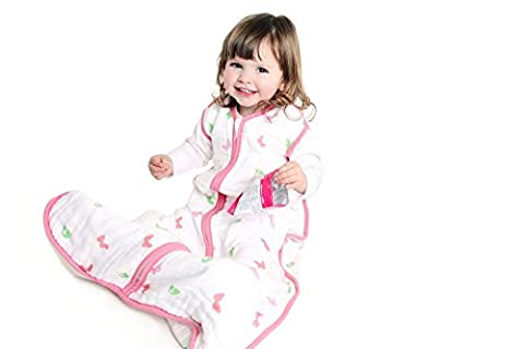 Schlummersack Baby Sommerschlafsack Musselin 0.5 Tog - Schmetterling - 6-18 Monate/90 cm (Hello Kitty Hochstuhl)