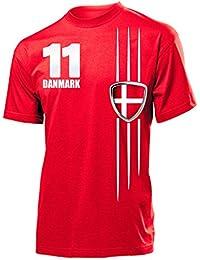 FOOTBALL WORLD CUP - EUROPEAN CHAMPIONSHIP DÄNEMARK FAN T-Shirt Homme Small - XX-Large