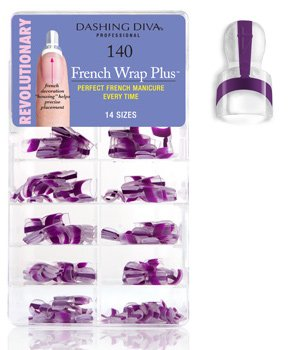 Faux Ongles French Pointe Violet 140 pcs