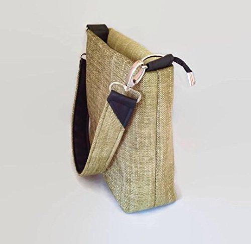 Green Tweed Pattern Shoulder Bag - handmade-bags
