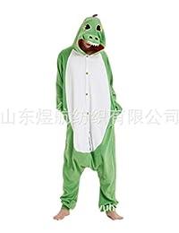 SALICEHB Buntes Dragon Green Dragon Fleece Cartoon Siamese Pyjamas Tierkostüm