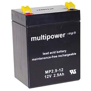 Multipower 12V MP2.9-12 batterie au plomb acide, 2900mAh