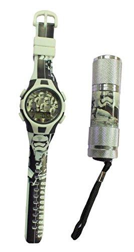 Star Wars - Reloj digital para niño de las tropas de asalto de Star Wars, incluye linterna de las tropas