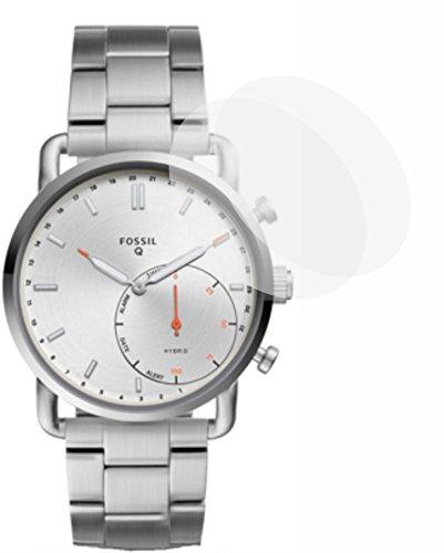 2X Crystal Clear klar Schutzfolie für Fossil Q Commuter Bildschirmschutzfolie Displayschutzfolie Schutzhülle Bildschirmschutz Bildschirmfolie Folie