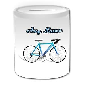 personalisiertes geschenk road fahrrad spardose sport design thema wei alle. Black Bedroom Furniture Sets. Home Design Ideas