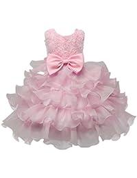 Rawdah Vestito Bambini Bambino Abito Vestiti Ragazze Fiore Compleanno Nozze  Damigella d Onore Pageant Principessa Formale Tutus… 08d455cc3e0