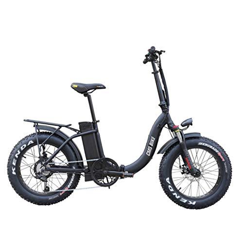 Wu\'s Bicicleta Eléctrica De Montaña Plegable De 20 Pulgadas, Batería De Iones De Litio Extraíble, Frenos De Disco, Pantalla LCD, 30 Km/H, Campo De Conducción 50-60 Km, 6 Velocidades