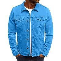 Herren Pullover,TWBB Demin Knopf Sweatjacke Mit Tasche Einfarbig Herbst Winter Lange Ärmel Mantel Outwear Jacke Hemd