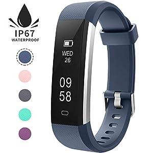 Pulsera de Actividad Inteligente, Sumergible Reloj Deportivo IP67 Smartwatches Cómodo con Pantalla Táctil Longitud Ajustable para Hombres y Mujeres 1