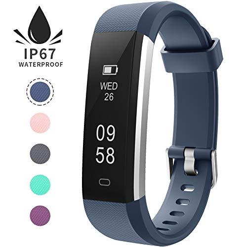 Imagen de pulsera de actividad inteligente, sumergible reloj deportivo ip67 smartwatches cómodo con pantalla táctil longitud ajustable para hombres y mujeres azul