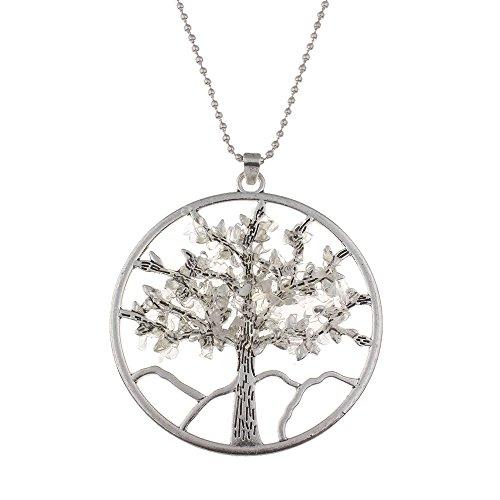 Halskette Kristall Klar Quarz (REAOK  -  Nicht zutreffend  klarer Quarz Tree     )