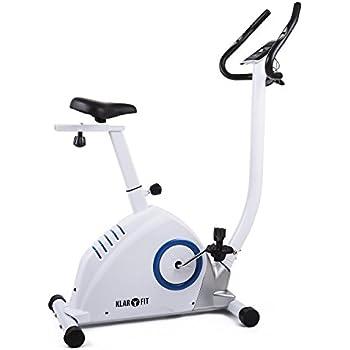 Klarfit MOBI SUPREME Vélo d'appartement ergomètre puissant avec pulsomètre (ordinateur programmable, 11 programmes, 16 niveaux) - blanc