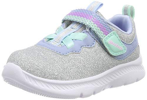 Skechers Girls' Comfy Flex 2.0 Trainers, Silver Silver Sparkle Mesh/Lt.Blue Trim Sllb, 10 UK 27 EU...