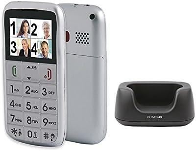 Senior teléfono Olympia Vox Colour con grossen Botones, función de SOS de elección ayuda en plata