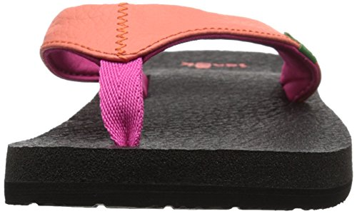 Sanuk Yoga Mat Kids, Tongs fille Hot Coral/Fuchsia