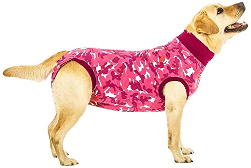 Suitical Recovery Suit Small+ for Dogs in Pink Camo. Professional alternative to the Cone of Shame. Suitable for wound and Bandage protection, Hotspots, Skin Diseases, Light Incontinence, When in Heat. Recommended by thousands of vets worldwide. by Suitical