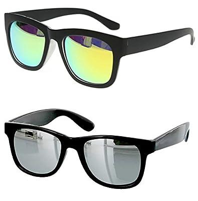 0104500bb8a Younky Combo Of Uv Protected Branded Mercury Wayfarer Sunglasses For Men  Women Boys   Girls ( Green Wayfarer- Silver Wayfare ) - 2 Sunglass Case