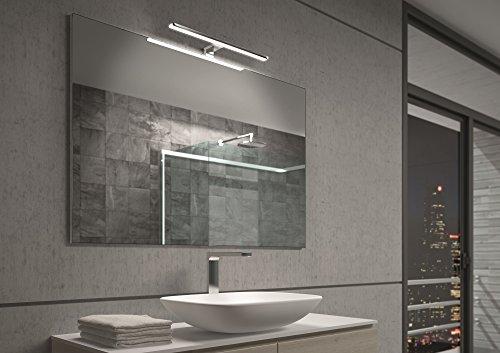 39 00 13 led spiegelleuchte fr badezimmer spiegellampe badleuchte aalto aluminium chrom. Black Bedroom Furniture Sets. Home Design Ideas