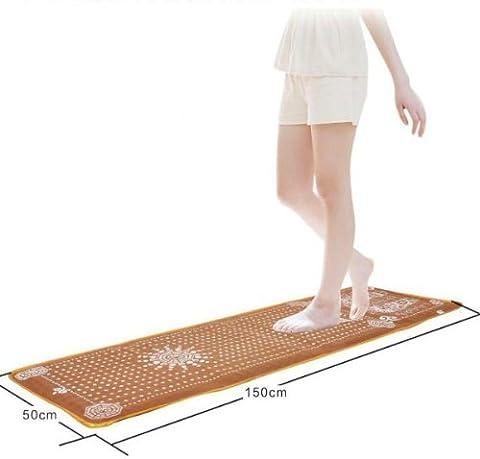 Portable Reflexology Walk Stone Foot Massage Leg Massager Mat Health Care