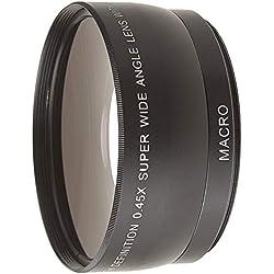 Generic Objectif de conversion grand angle 58mm 0.45x+ Macro pour appareils photo Canon / Nikon / Sony / Minolta / Pansonic / Olympus / Pentax