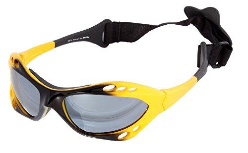 Strike Eyewear Kitebrille Sportbrille Wassersport Brille Wakeboard Kitesurfen Windsurfen 078 mit Kopfband gelb